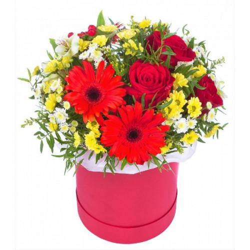 """Коробка цветов """"Ночные грезы"""""""