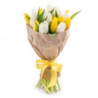 Букет из 19 тюльпанов + упаковка