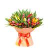 Букет из 65 тюльпанов + упаковка